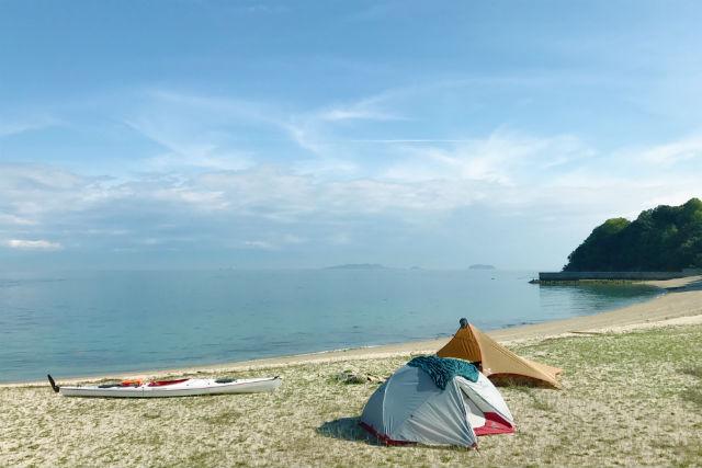 【瀬戸内しまなみ・シーカヤック】1泊2日で瀬戸内海を堪能!キャンプツアー