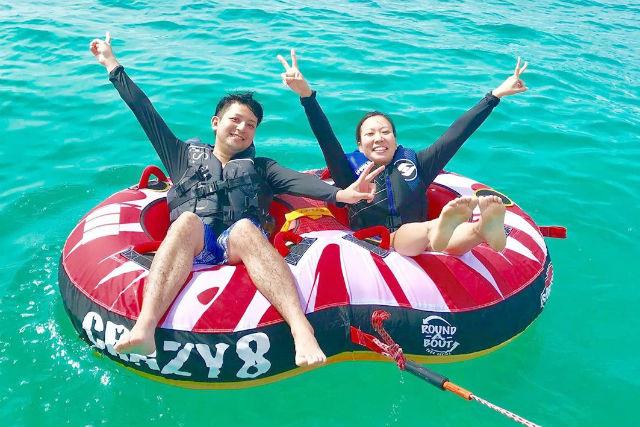 【石垣島・半日遊び放題!・ボートでGO】爽快ジェットブレードで空を飛ぶ&マリンスポーツ8種