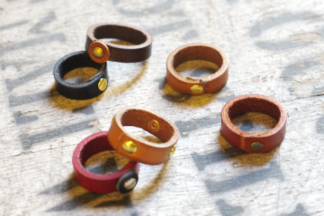 【愛知・名古屋・レザークラフト】革の指輪!レザーリング作り(約20分)
