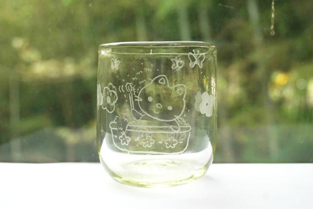 【新潟・月岡温泉・ガラス細工】ガラスを削って絵を描こう!ルーター体験