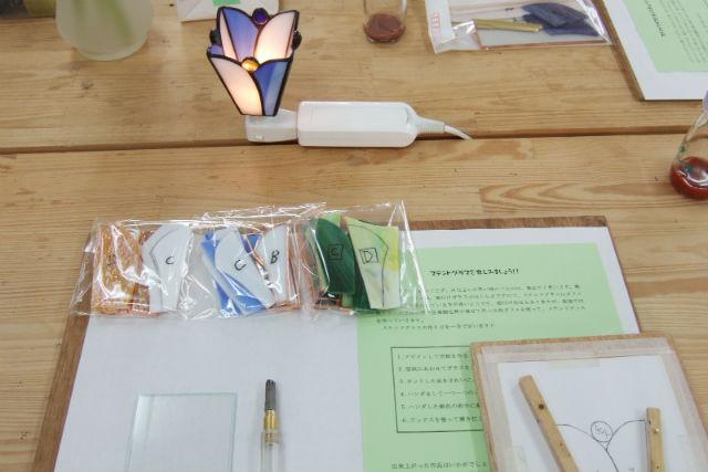 【京都・ガラス細工】ステンドグラスで癒しのナイトランプ作り