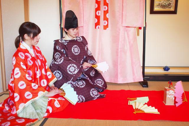 【広島・宮島・伝統文化体験】弥山大聖院で投扇興あそびと平安装束体験