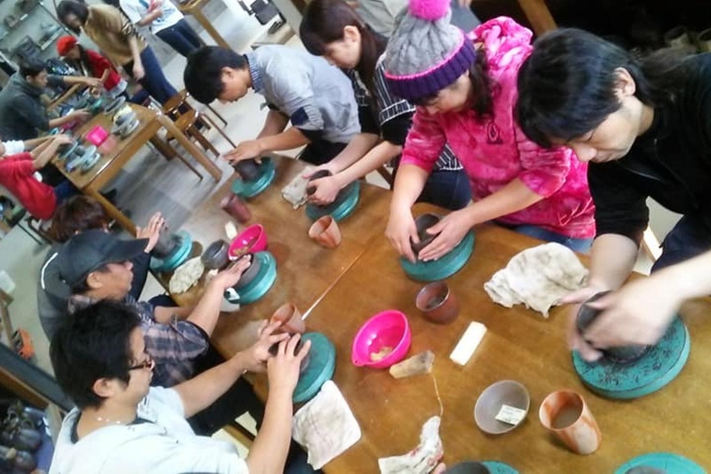 【岡山・備前市・陶芸体験】たっぷりの粘土で作る備前焼の土ひねり体験!パスタ皿など