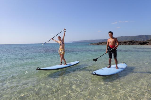 【鹿児島・奄美大島・SUP&ウェイクボード】海上で遊び尽くす!ミドルステイプラン
