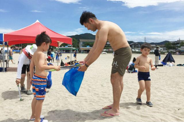 【福井・ビーチクリーン体験】ブルーフラッグ認証の海水浴場でビーチクリーン体験(限定ステッカー付き)