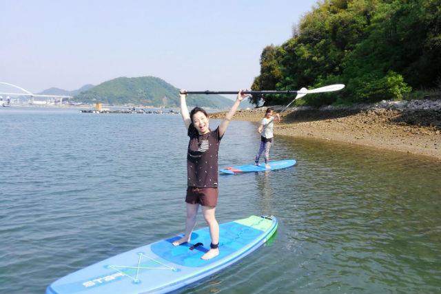 【広島・尾道・SUP】瀬戸内海上をゆっくりお散歩!SUP体験(ランチ付き)