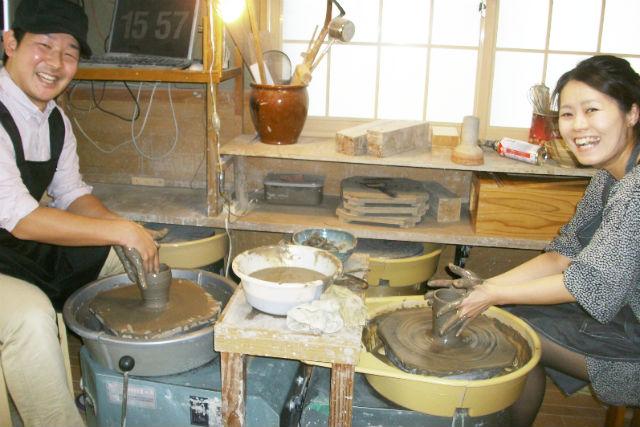 【仙台・電動ろくろ・60分】ひんやり粘土をグルグル回そう!仙台中心部より車で30分!陶芸家気分で湯呑やお茶碗を作ろう!