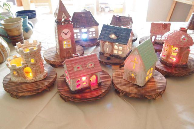 【宮城・仙台・陶芸体験】自由に装飾、穴開け、色付けできる!ランプシェード(1個)