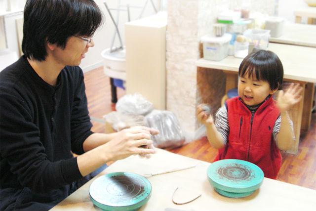 ★『子ども・親子で陶芸プラン』簡単!楽しい!本格陶芸体験!★桜の箸置きもプレゼント