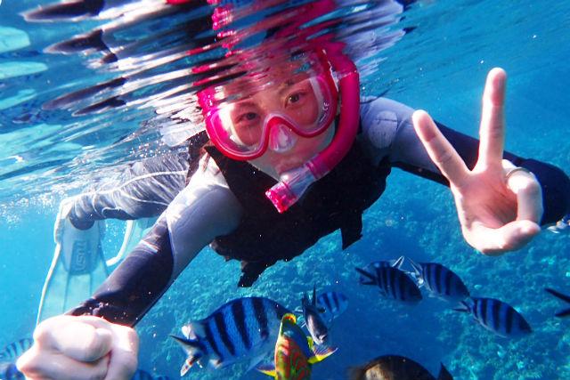 【沖縄・青の洞窟・シュノーケリング 】奇跡のブルーワールド!青の洞窟をめぐろう!★水中写真&餌付け無料サービス!