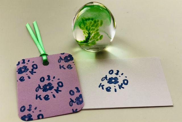 【岐阜・多治見市・ガラス細工】絵や文字を自由に彫り入れる!ガラスのハンコ作り