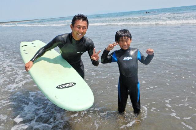 【宮崎市】青島海岸でキッズサーフィンスクール(90分)