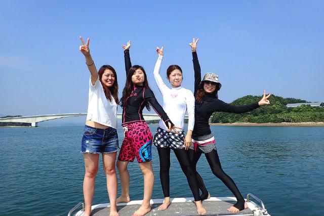 【熊本・ウェイクボード】天草の海を滑走!ウェイクボード初心者体験コース