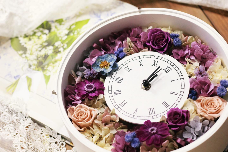 【岡山・倉敷・プリザーブドフラワー・花時計】美観地区から車で15分!華やかな時計を作ろう!花時計制作体験