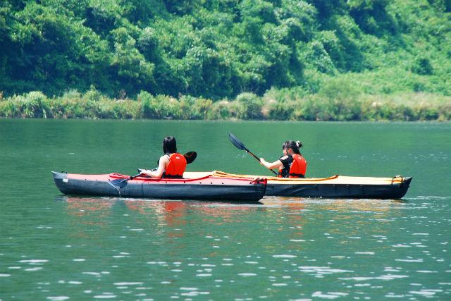 【岡山・奥津湖・カヌー】みずの郷「奥津湖」でカヌー体験をしよう!