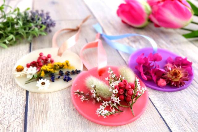 【東京・池袋・手作りキャンドル】ふんわり香る。フラワーアロマワックスサシェ2個(1時間)
