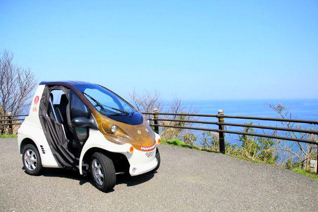 【鳥取・岩美・超小型車】かわいい超小型EV「ジオコムス」で風光明媚な海岸線や街並みを走ろう!