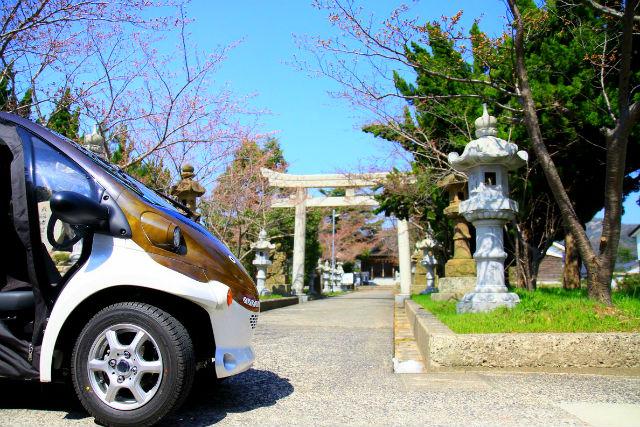 【鳥取・岩美・超小型車】かわいい超小型EV「ジオコムス」で山陰海岸ジオパークエリアを自由に回ろう!