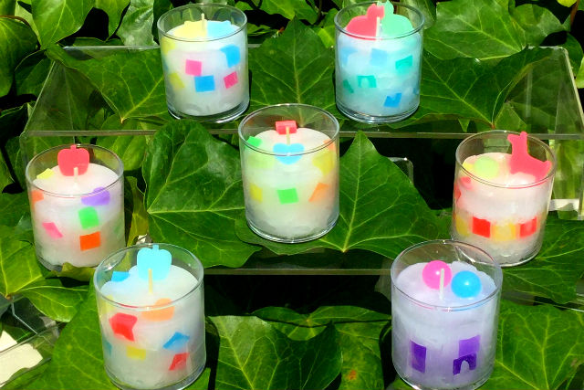 【岡山・倉敷・手作りキャンドル】好きな色で作るアロマモザイクグラスキャンドル