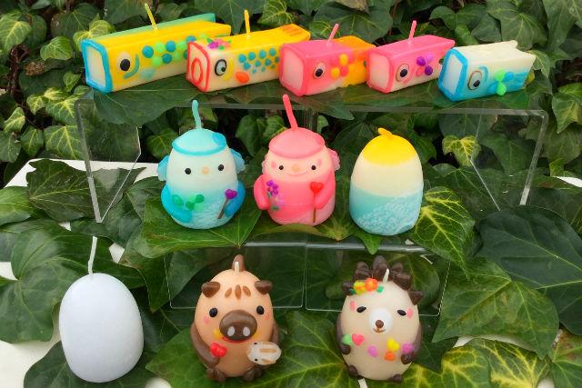 【岡山・倉敷・手作りキャンドル】粘土感覚で作れる季節のフィギュアキャンドル
