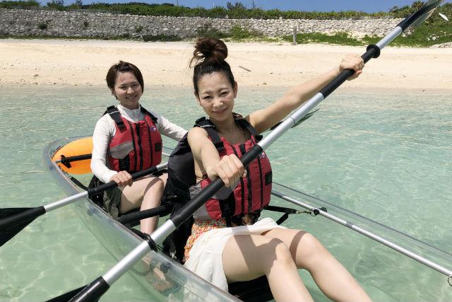【鹿児島・与論島・カヤック】透明な船で海上散歩!クリアカヤックプラン