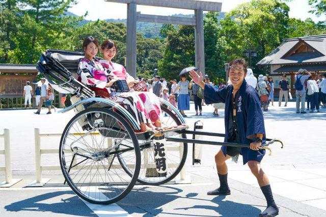 【三重・伊勢市・人力車】人力車で観光を満喫!伊勢の良いトコ取りコース(30分)