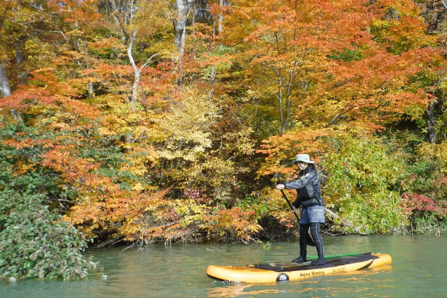 【岩手・夏油高原・SUP】神秘的なエメラルドグリーンの湖を探訪!秘境SUPツアー