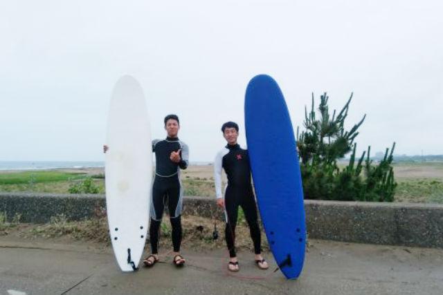 【石川・金沢・サーフィン】憧れの波乗りにまずは短時間で挑戦!サーフィン体験