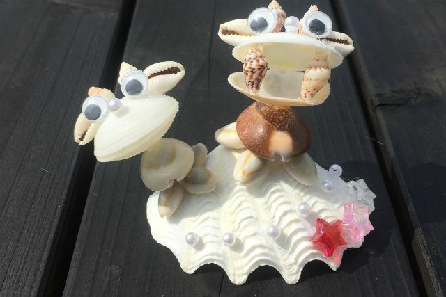 【沖縄・マリンクラフト】貝殻シーサー作り。海風を感じる一品!