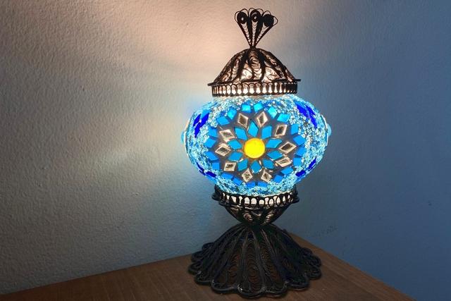 【2.5%還元】【名古屋・栄・ガラス細工】伝統的な製法で作られた美しさ!ワイヤートルコランプ(1個)【1名から予約可能】