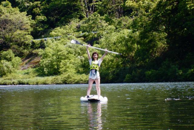 【島根・美郷・SUP】川の流れを攻略するスリル満点の体験!SUPで本格江ノ川下り