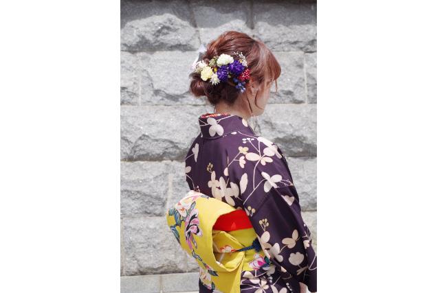 【愛媛・松山・着物レンタル】道後温泉~松山城を着物で散策!1日着物レンタル
