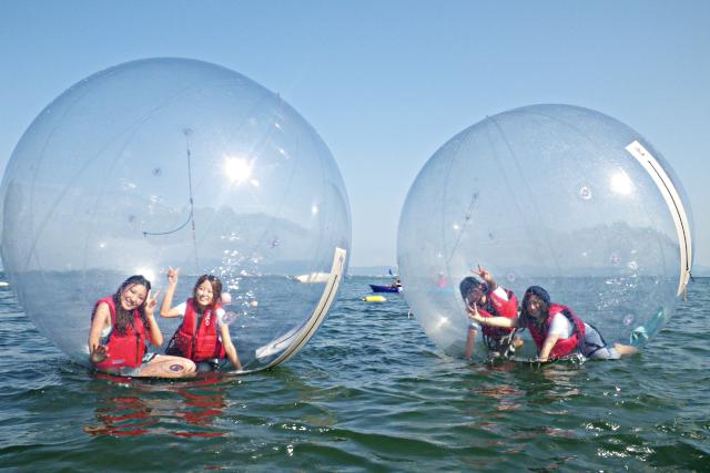 【滋賀・大津・ウォーターボール】ウォーターボール発祥の施設で遊ぶ!水上浮遊体験