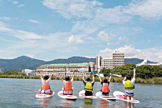 【滋賀・大津・SUP】最高のロケーションを独り占め!日本一の琵琶湖でSUP体験
