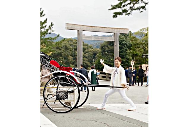 【三重・伊勢・人力車】知る人ぞ知る大自然の中を巡る!神宮の森をゆく30分コース
