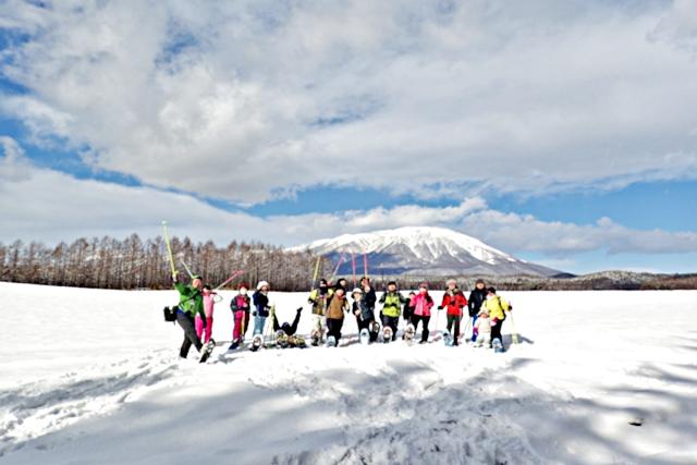 【岩手県・岩手郡・スノーシュー】銀世界を散策!スノーシューと手作りアイス体験