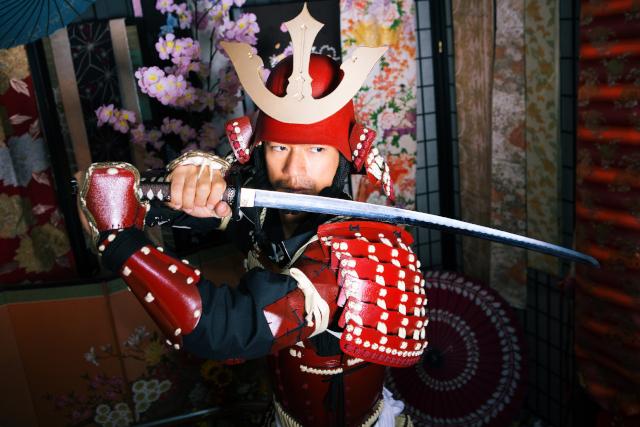 【奈良・大和高田・変身体験】本格的な甲冑を着て特設スタジオで撮影!ノーマルプラン