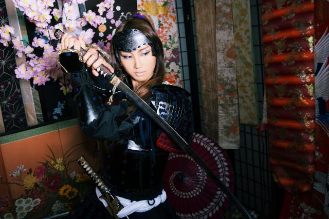 【奈良・大和高田・変身体験】男装メイクでより格好良く甲冑を着こなす勇メイクプラン