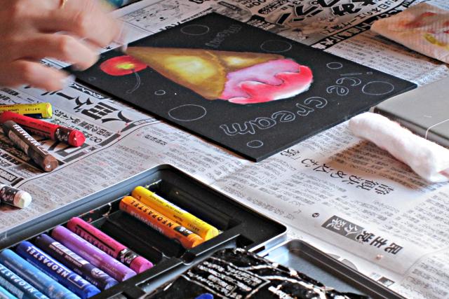 【兵庫・神戸・チョークアート】数種類から選べる体験レッスン!インテリアボード1枚