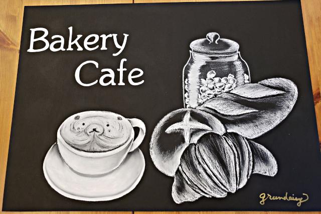 【兵庫・神戸・チョークアート】お店の看板にそのまま使える!黒板アート風ボード2枚