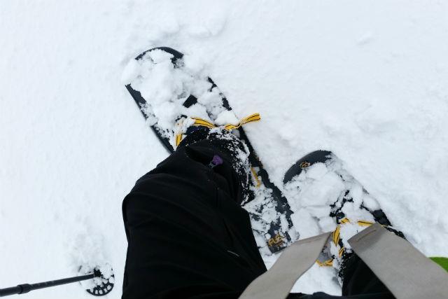 【滋賀・琵琶湖西岸・スノートレッキング】雪の上を歩こう!スノートレック初めて編