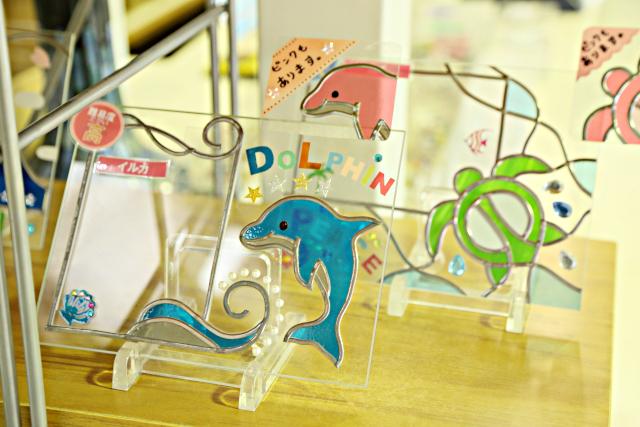 【山梨・富士河口湖・ステンドグラス】思い出を色鮮やかに飾る。フォトフレーム1点