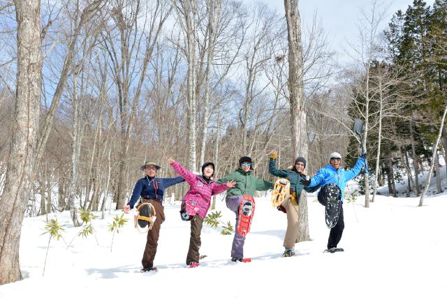 【岐阜・高山・スノーシュー】雪の広葉樹林をお散歩!スノーシュートレッキング体験