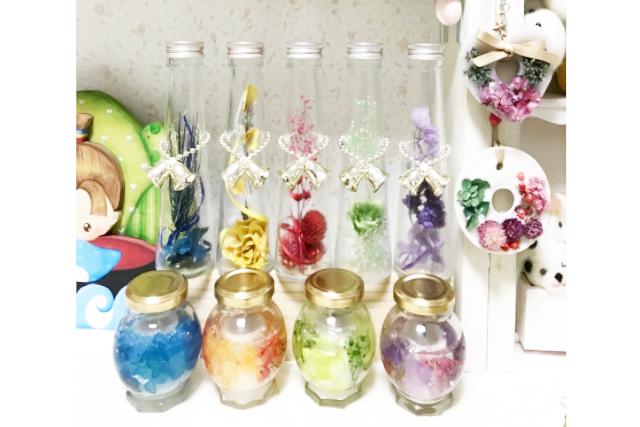 【大阪・堺・ハーバリウム】植物の美しさを長く楽しめるインテリア。ハーバリウム1本