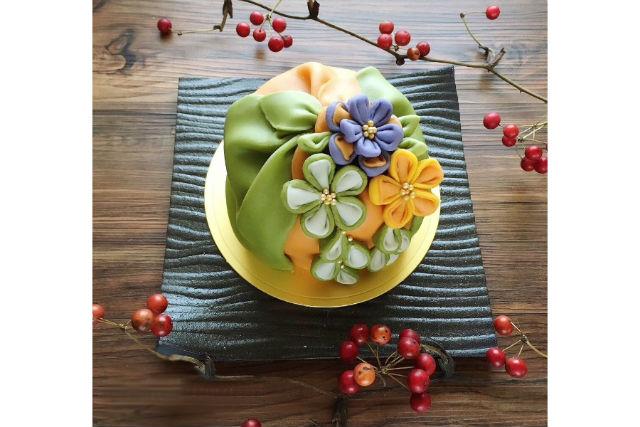 【愛媛・西条・お菓子作り教室】食を超えた美しさ。あんクラフトかんざしケーキ制作