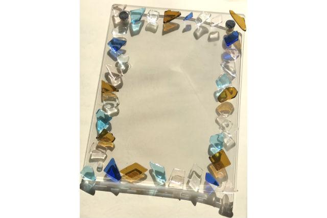 【広島・宮島・ガラス工房】キラキラとやさしく輝くガラスフォトフレーム制作(1個)