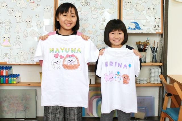 【静岡・伊東・手作りTシャツ】ぬり絵のような簡単体験!手描きTシャツ作り(1着)