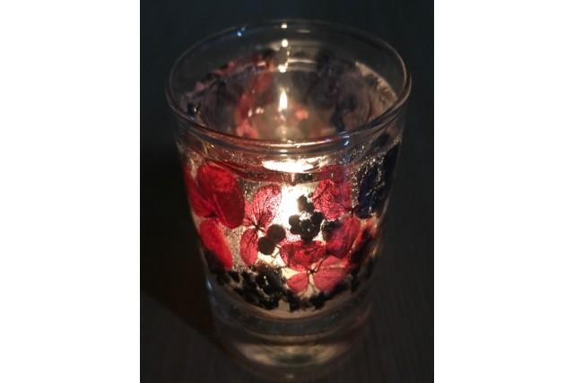 【広島県・広島市・手作りキャンドル】お花や果実が可愛い。ボタニカルキャンドル1個
