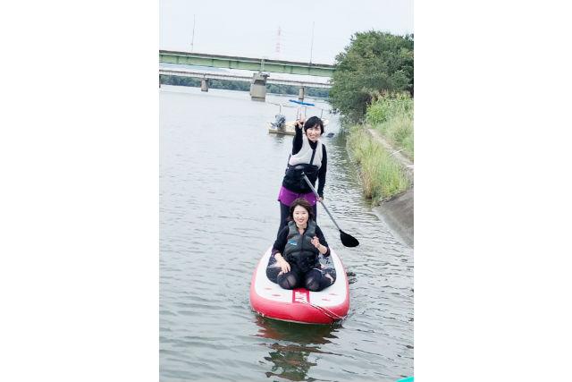 【岡山・倉敷・SUP】初めての方も大歓迎!高梁川の中州でSUP体験1周コース