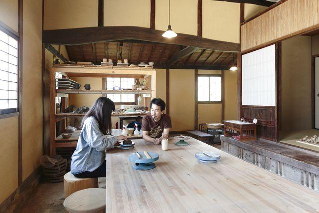 【岡山県・岡山市・手びねり】本格的な備前焼陶芸体験&施設内カフェの手作りケーキ